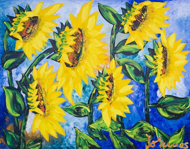 Sonnenblumen Sturm