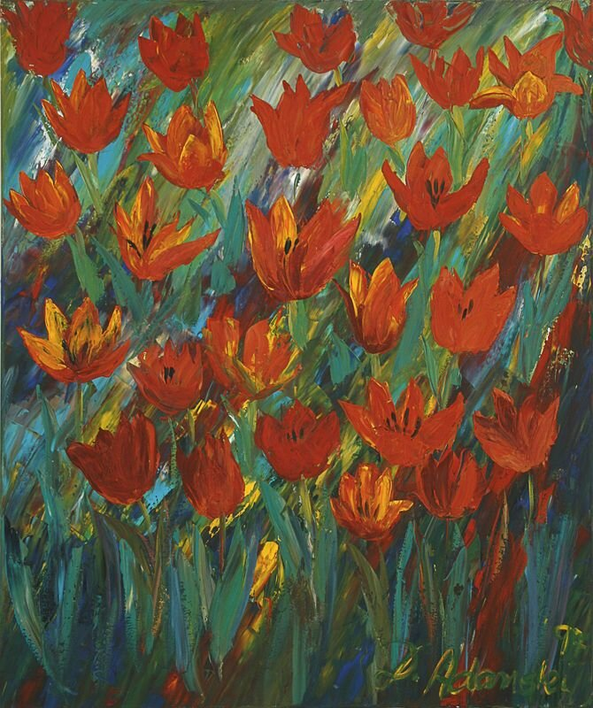Tulpenfeld, rot
