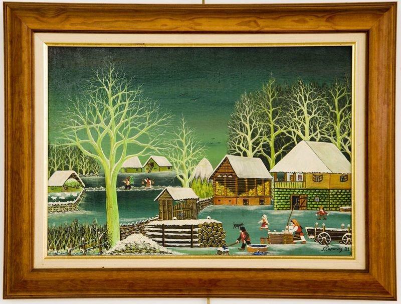 Dorf im Winter