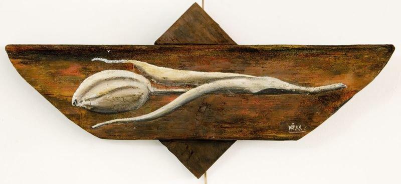 Tulpe auf Holz